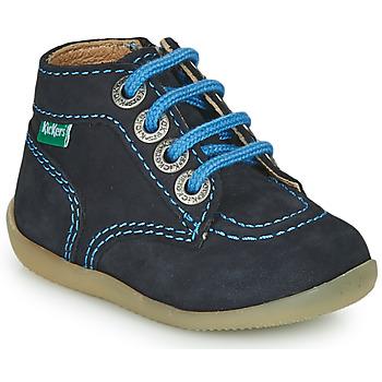Shoes Boy Mid boots Kickers BONZIP-2 Marine