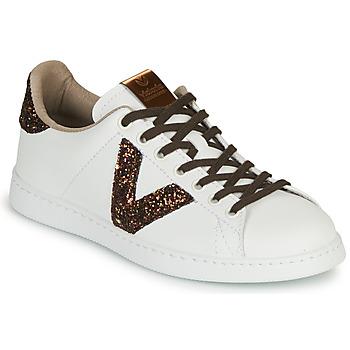 Shoes Women Low top trainers Victoria TENIS PIEL VEG White / Brown