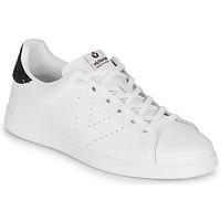Shoes Women Low top trainers Victoria TENIS PIEL White / Bordeaux
