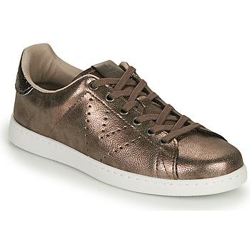 Shoes Women Low top trainers Victoria TENIS METALIZADO Gold