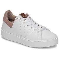 Shoes Women Low top trainers Victoria UTOPÍA PIEL VEG White / Pink