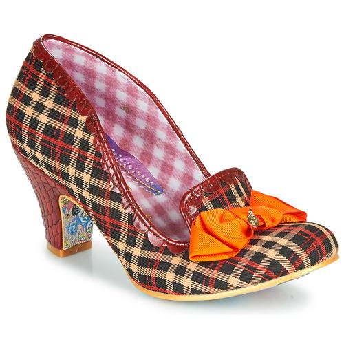 Shoes Women Heels Irregular Choice Kanjanka Burgundy