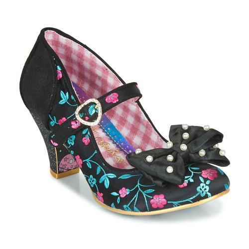 Shoes Women Heels Irregular Choice Snow Drop  black / White / pink