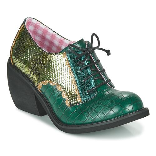 Shoes Women Derby Shoes Irregular Choice Tipple Green