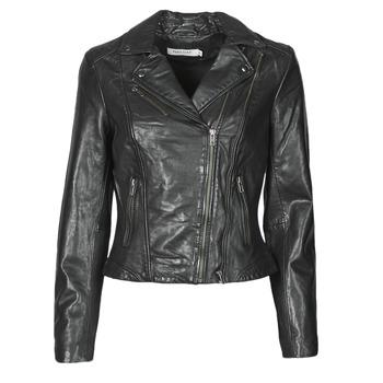 Clothing Women Leather jackets / Imitation leather Naf Naf CAMILLA Black