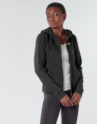 Clothing Women Track tops Puma METALLIC FZ HOODY TR Black / Gold