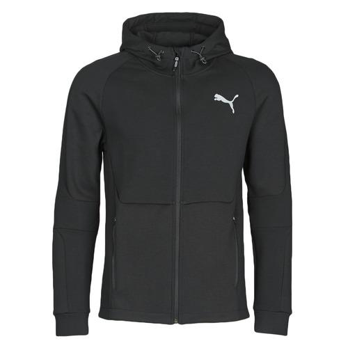 Clothing Men Track tops Puma EVOSTRIPE FZ HOODY Black