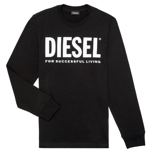 Clothing Boy Long sleeved tee-shirts Diesel TJUSTLOGO ML Black