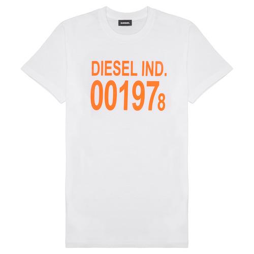 Clothing Children Short-sleeved t-shirts Diesel TDIEGO1978 White