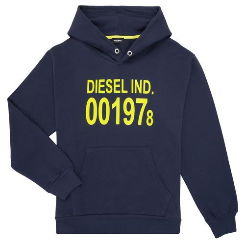 Clothing Children Sweaters Diesel SGIRKHOOD Blue