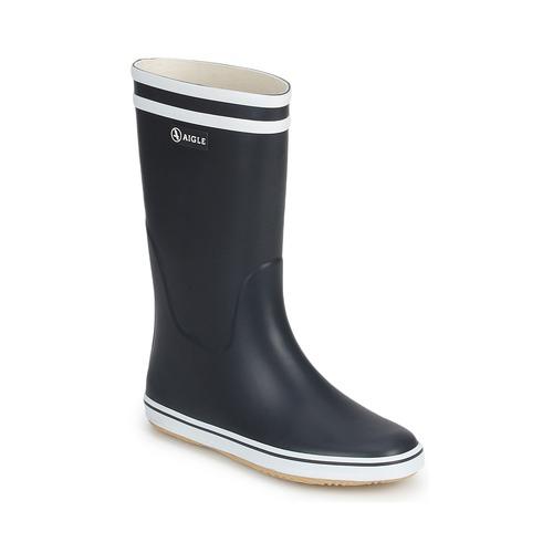 Shoes Women Wellington boots Aigle MALOUINE BT Marine / White