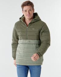 Clothing Men Duffel coats Vans CARLTON PUFFER ANORAK II Green