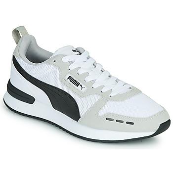 Shoes Men Low top trainers Puma R78 White / Black