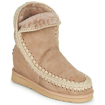 Shoes Women Mid boots Mou ESKIMO INNER WEDGE SHORT Beige