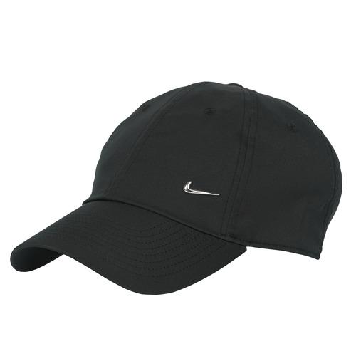 Clothes accessories Caps Nike U NSW H86 METAL SWOOSH CAP Black / Silver
