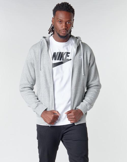 Clothing Men Sweaters Nike M NSW CLUB HOODIE FZ BB Grey