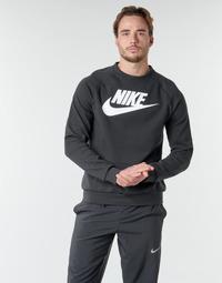 Clothing Men Sweaters Nike M NSW MODERN CRW FLC HBR Black / White