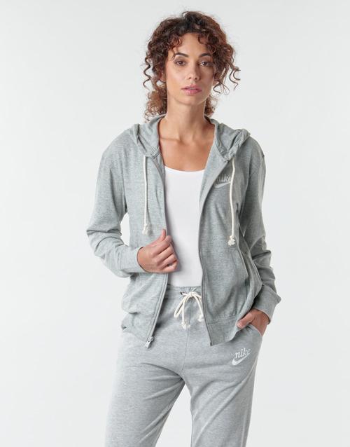 Clothing Women Sweaters Nike W NSW GYM VNTG HOODIE FZ Grey