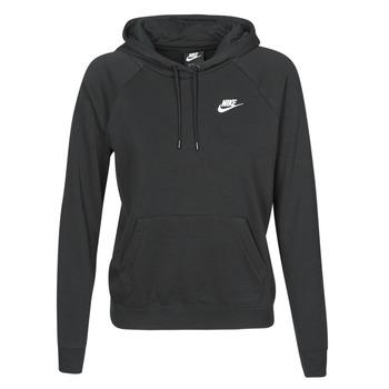 Clothing Women Sweaters Nike W NSW ESSNTL HOODIE PO FLC Black