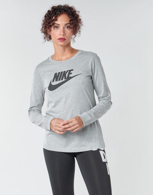 Clothing Women Long sleeved tee-shirts Nike W NSW TEE ESSNTL LS ICON FTR Grey