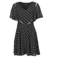Clothing Women Short Dresses Guess ELLA DRESS Black / White