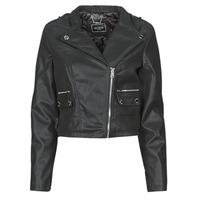 Clothing Women Leather jackets / Imitation leather Guess FRANCES JACKET Black