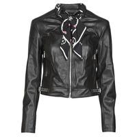 Clothing Women Leather jackets / Imitation leather Guess NEW JONE JACKET Black