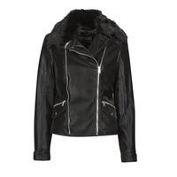 Clothing Women Leather jackets / Imitation leather Guess CANTARA Black
