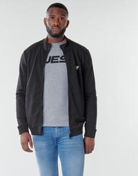 Clothing Men Sweaters Guess AL TRUCK FLEECE Black