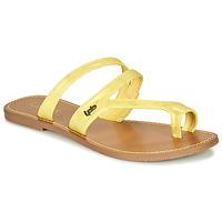 Shoes Women Flip flops Les Petites Bombes TEXANE Ocre tan