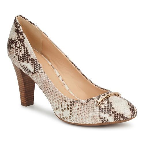 Shoes Women Heels Geox MARIECLAIRE POMA Beige