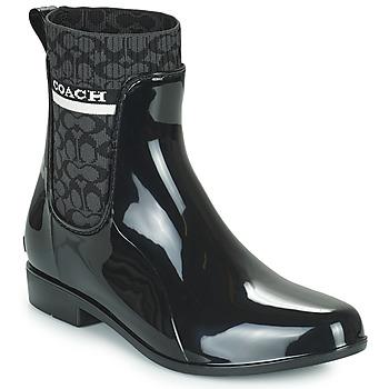 Shoes Women Wellington boots Coach RIVINGTON RAIN BOOTIE Black