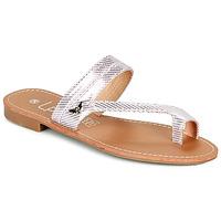 Shoes Women Flip flops Les Petites Bombes EVA Pink / Silver