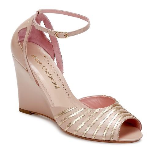 Shoes Women Sandals Sarah Chofakian LA PARADE Pink / Gold