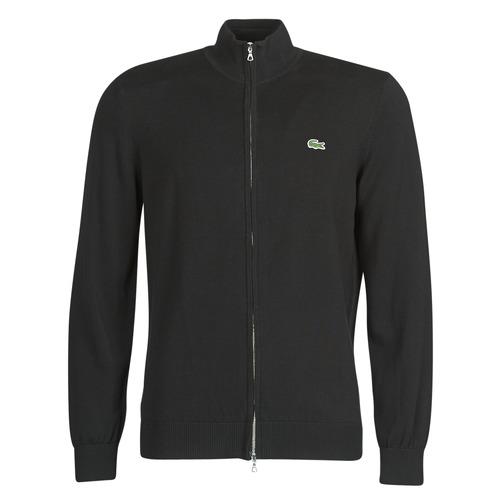 Clothing Men Jackets / Cardigans Lacoste AH1957 Black