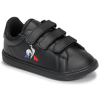Shoes Children Low top trainers Le Coq Sportif COURTSET INF Black