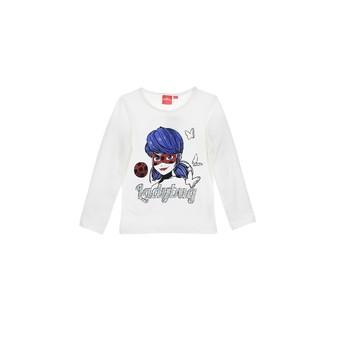 Clothing Girl Long sleeved tee-shirts TEAM HEROES  MIRACULOUS LADYBUG White