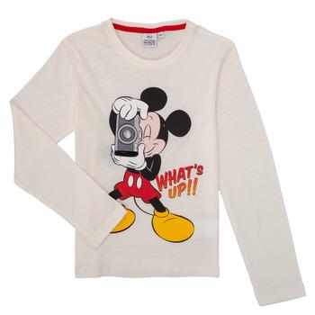 Clothing Boy Long sleeved tee-shirts TEAM HEROES MICKEY White