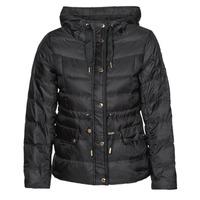 Clothing Women Duffel coats MICHAEL Michael Kors LOGO GROSGRAIN PUFFER Black