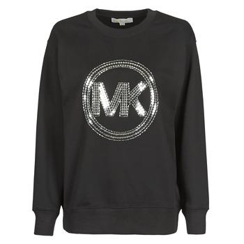 Clothing Women Sweaters MICHAEL Michael Kors MK CRCL CLSC SWTSHRT Black