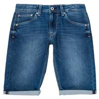 Clothing Boy Shorts / Bermudas Pepe jeans CASHED SHORT Blue