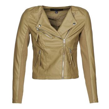 Clothing Women Leather jackets / Imitation leather Vero Moda VMRIAFAVO Beige