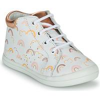 Shoes Girl Hi top trainers GBB NAHIA White / Pink