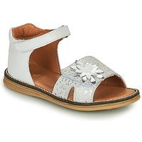 Shoes Girl Sandals GBB SATIA White / Silver