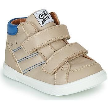Shoes Boy Hi top trainers GBB MORISO Beige