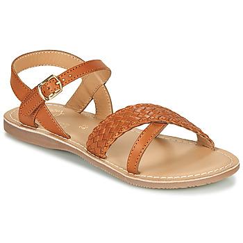 Shoes Girl Sandals Little Mary LIANE Cognac