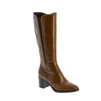 Shoes Women High boots André EOLE Cognac