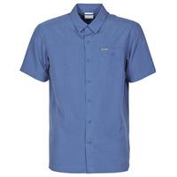 Clothing Men Short-sleeved shirts Columbia LAKESIDE TRAIL Blue
