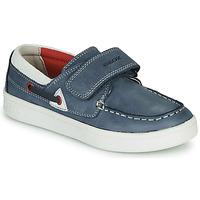 Shoes Children Loafers Geox DJROCK GARCON Blue
