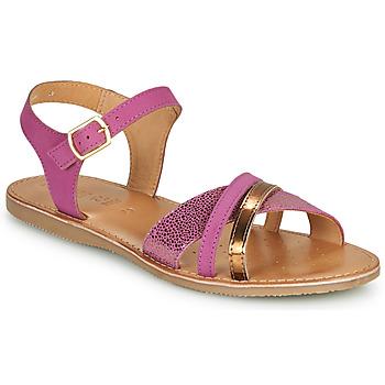 Shoes Girl Sandals Geox J SANDAL EOLIE GIRL Pink / Gold